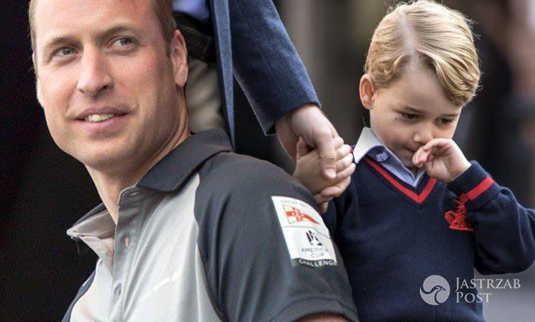 Książę George nie chce chodzić do szkoły