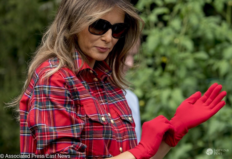 Melania Trump w ogrodzie