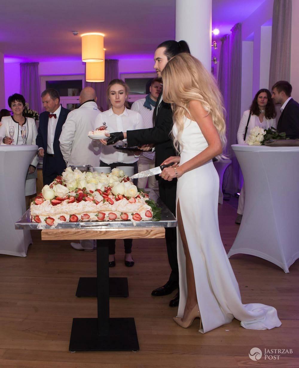 Ślubny tort dla Kejtana Góry przygotowała Marta Grycan