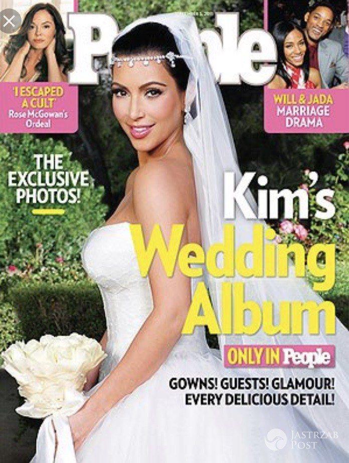 Kim Kardashian w sukni Vera Wang