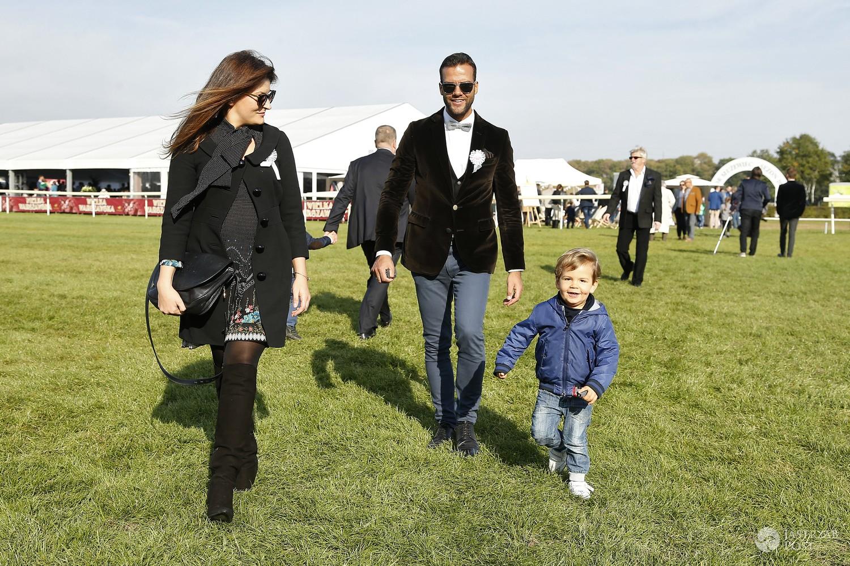 Conrado Moreno z żoną i synem w 2014 roku