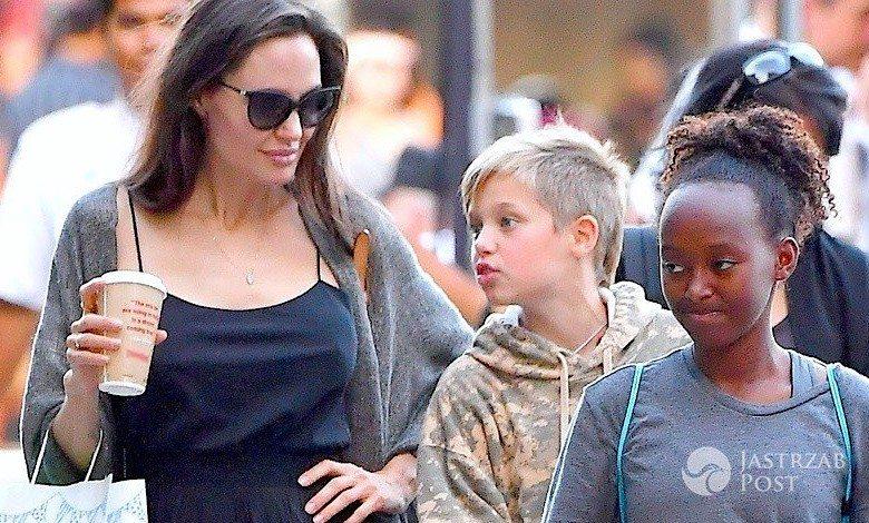 Angelina Jolie na salonach z dzieci
