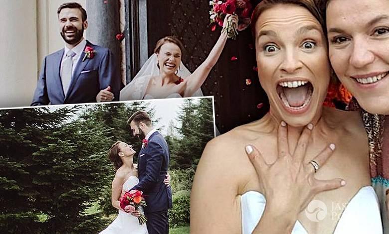 Ślub Anny Starmach i Piotra Kuska. Zdjęcia, suknia ślubna