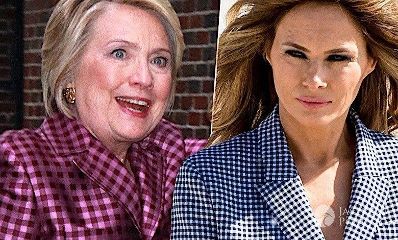 Hillary Clinton jak Melania Trump
