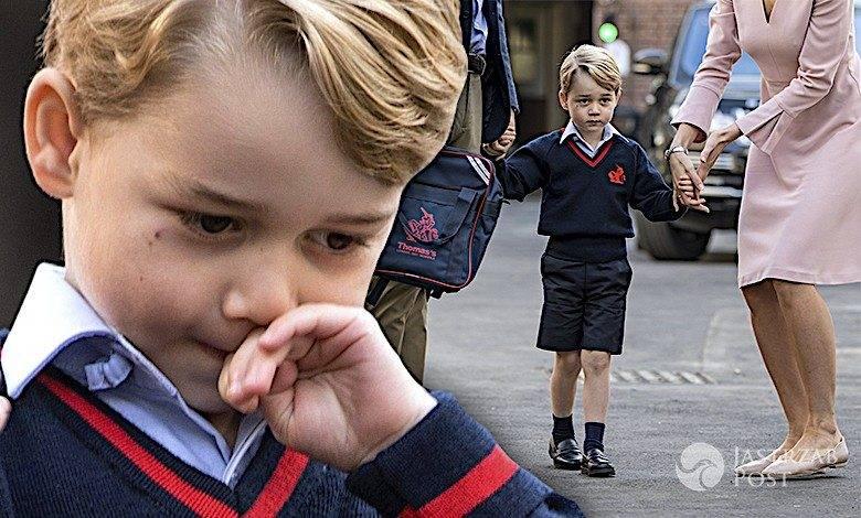 Książę George w szkole pierwszy dzień