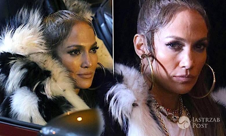 Jennifer Lopez w futrze