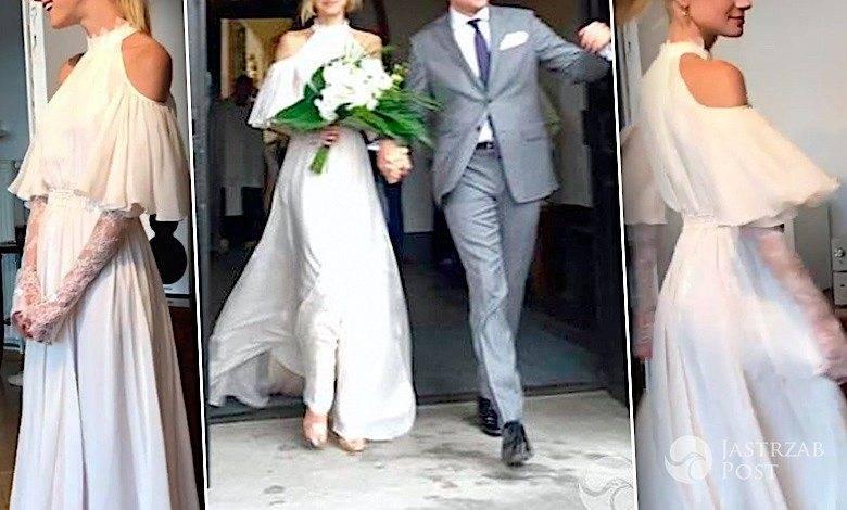 Kasia Smolińska ślub suknia ślubna
