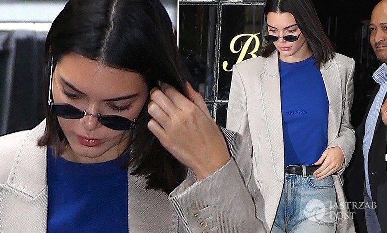 Kendall Jenner dżinsy, buty w szpic