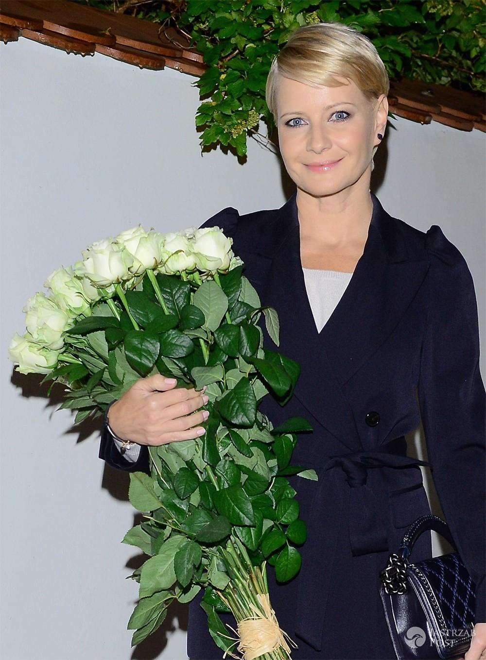 Małgorzata Kożuchowska na zamkniętym pokazie w Teatrze Telewizji