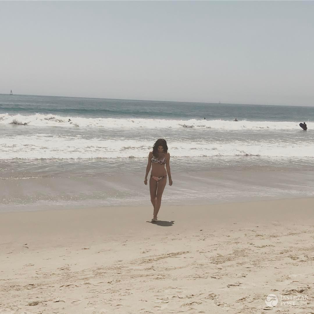 Weronika Rosati w bikini na plaży