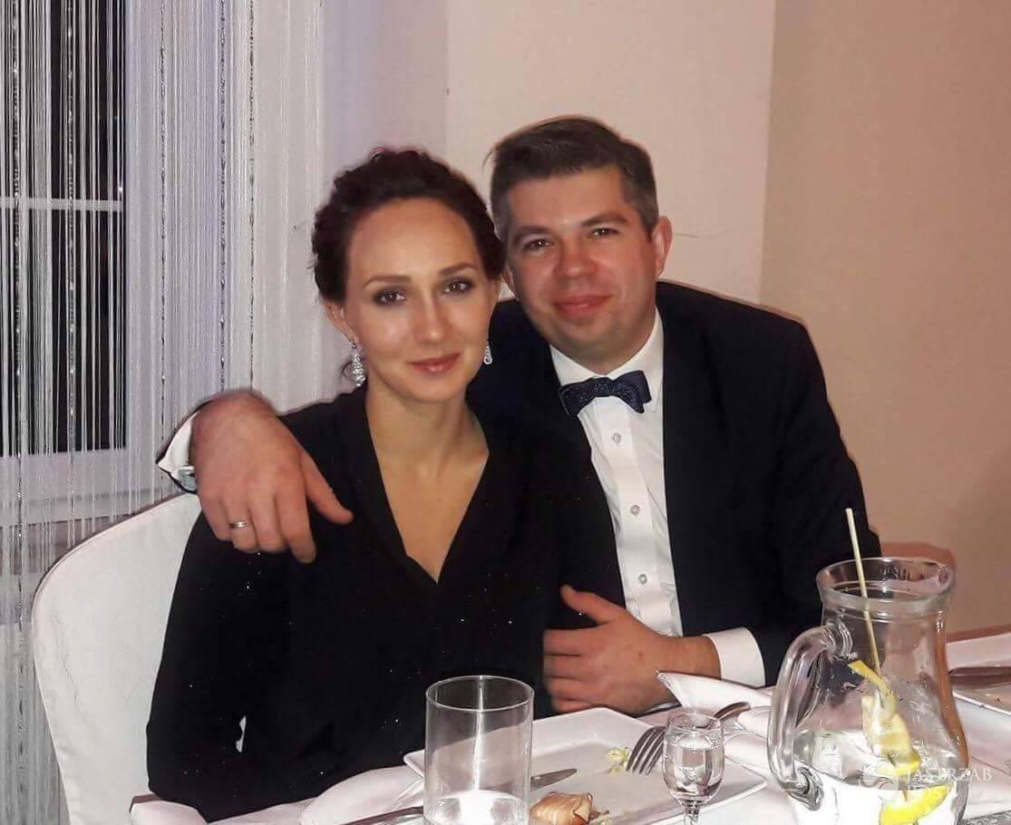 Paweł Szakiewicz z żoną