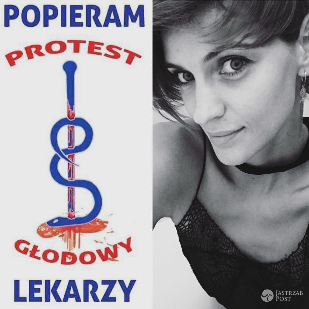 Renata Kaczoruk popiera strajk głodowy lekarzy