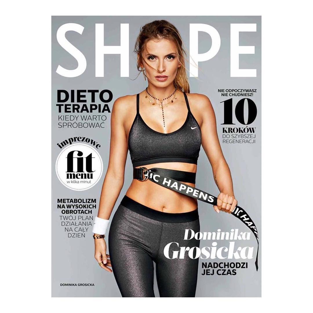 Dominika Grosicka na okładce SHAPE