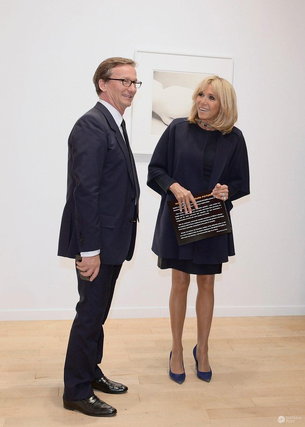 Brigitte Macron na otwarciu wystawi Fiac w Paryżu