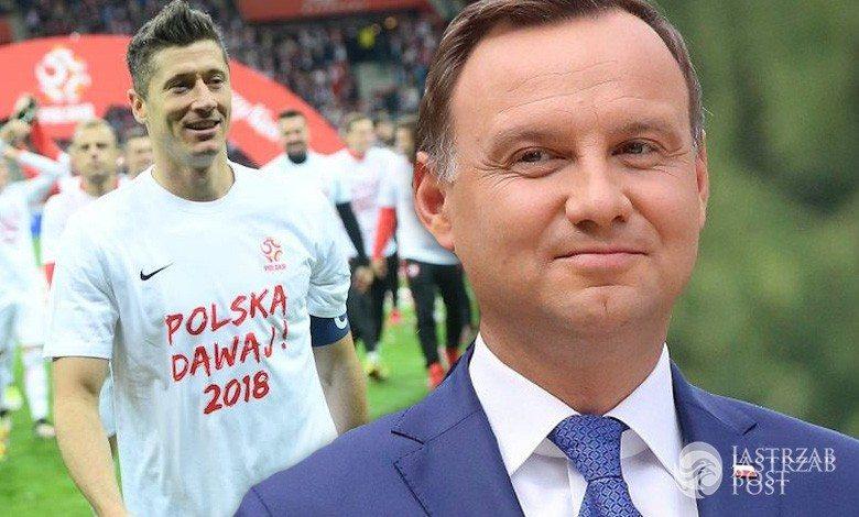 Andrzej Duda wyciągnął Roberta Lewandowskiego spod prysznica