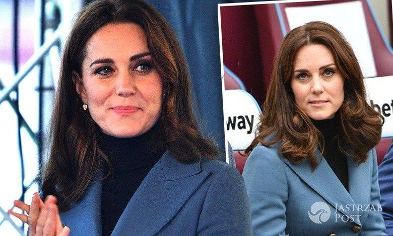 Księżna Kate w niebieskiej marynarce