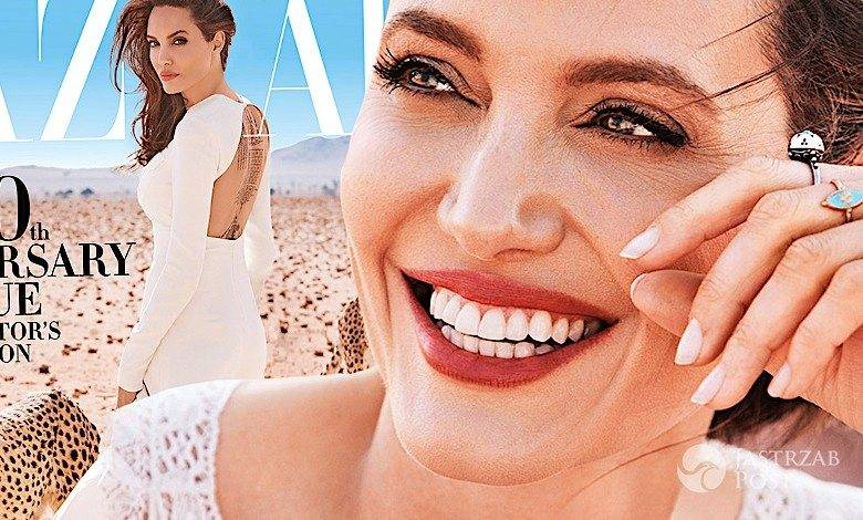 Angelina Jolie w Harper's Bazaar sesja Alexi Lubomirski