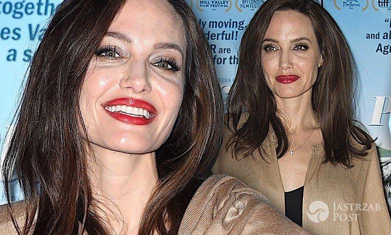 Angelina Jolie kaszmirowy płaszcz