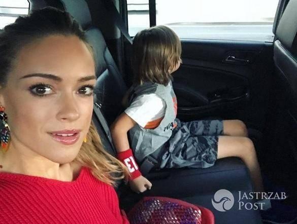 Alicja Bachleda-Curuś synem Farella jedzie na mecz Marcina Gortata