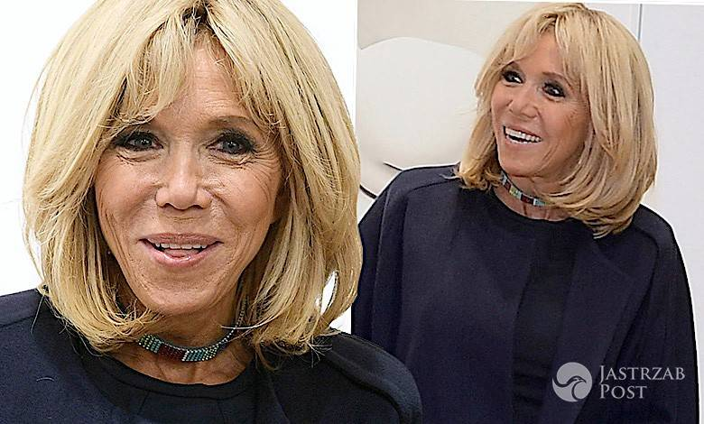 Brigitte Macron stylizacja nogi