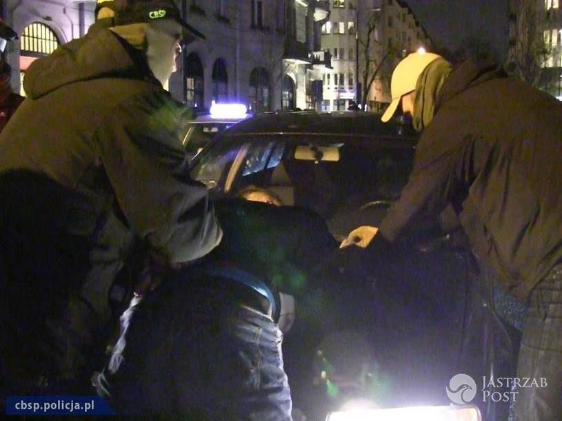 Zatrzymanie Cezarego P., materiały policyjne