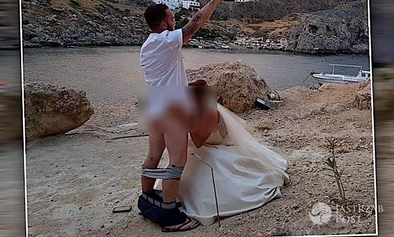 Ślubna sesja, seks oralny
