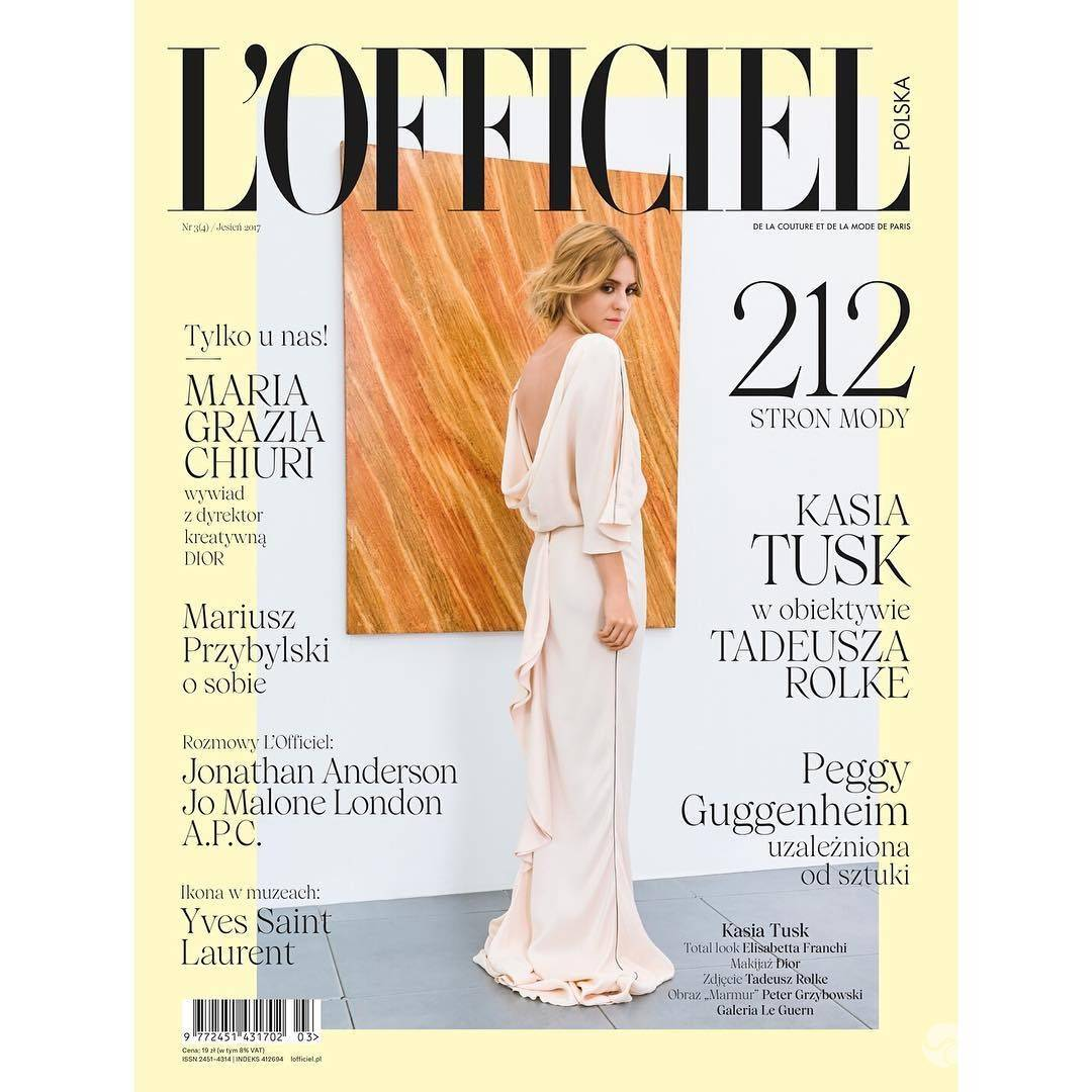 Kasia Tusk na okładce L'Officiel Polska