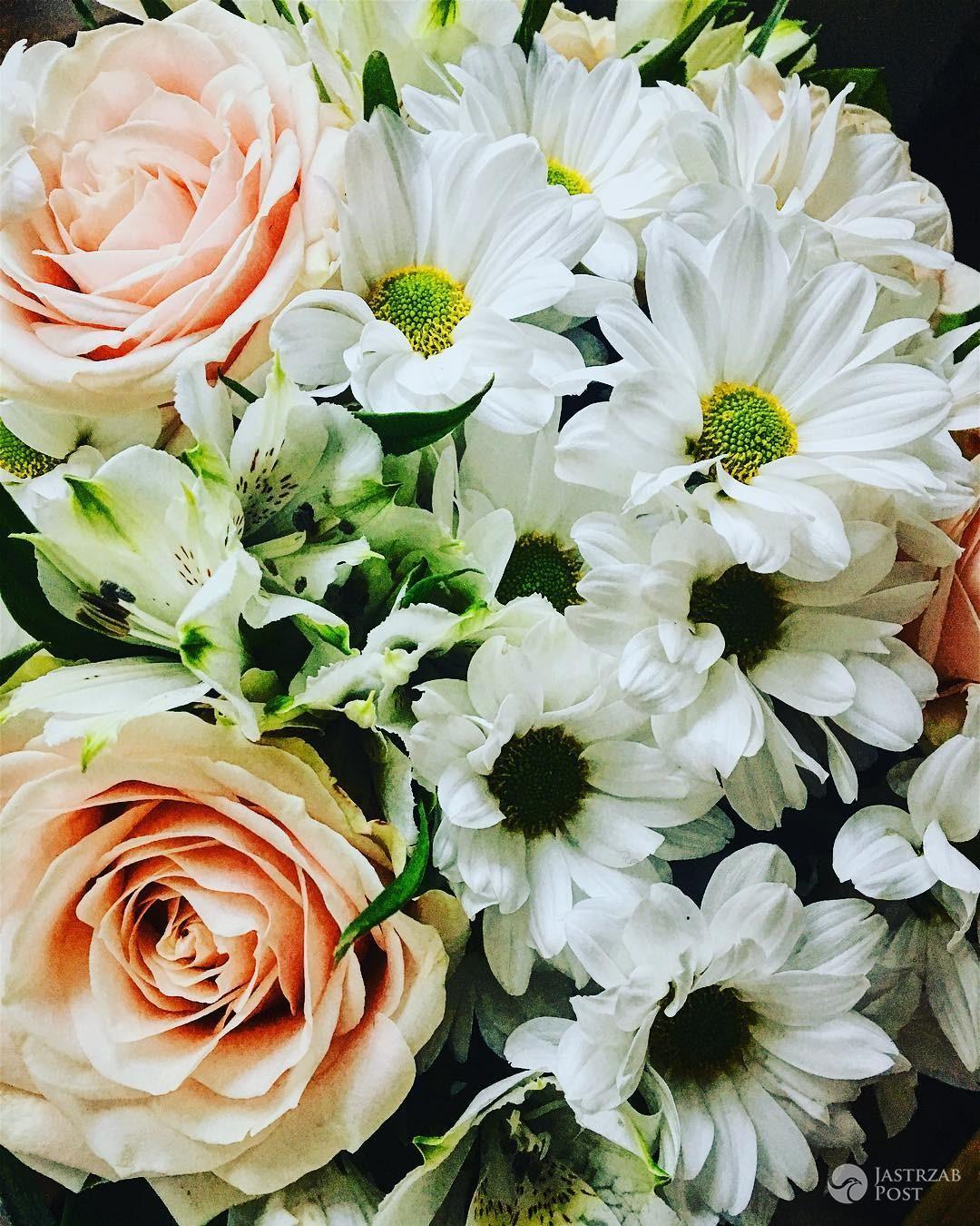 Magdalena Lamparska dostała kwiaty od męża