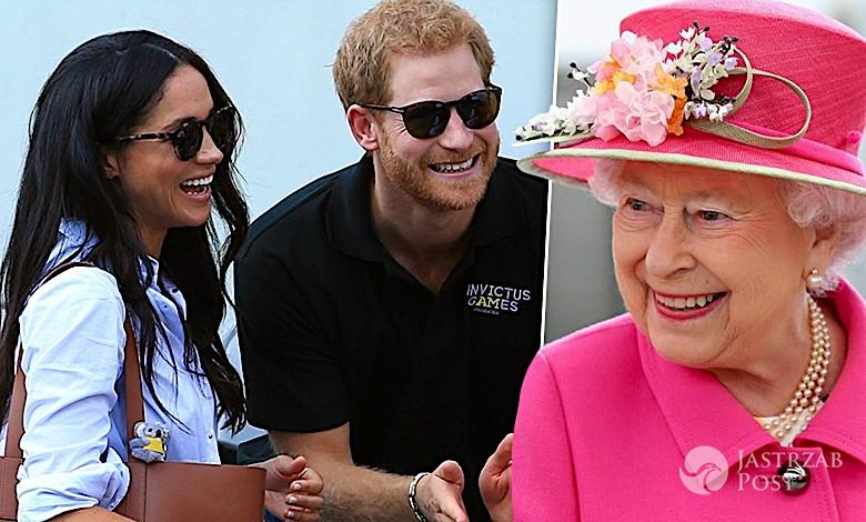 Meghan Markle, książę Harry, królowa Elżbieta II