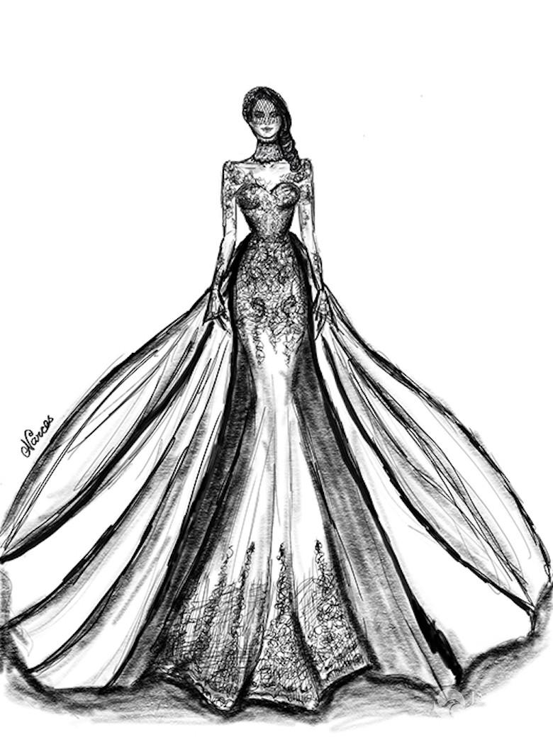Suknia ślubna Dla Meghan Markle Projekt Nikki Yassemi Fot Hello