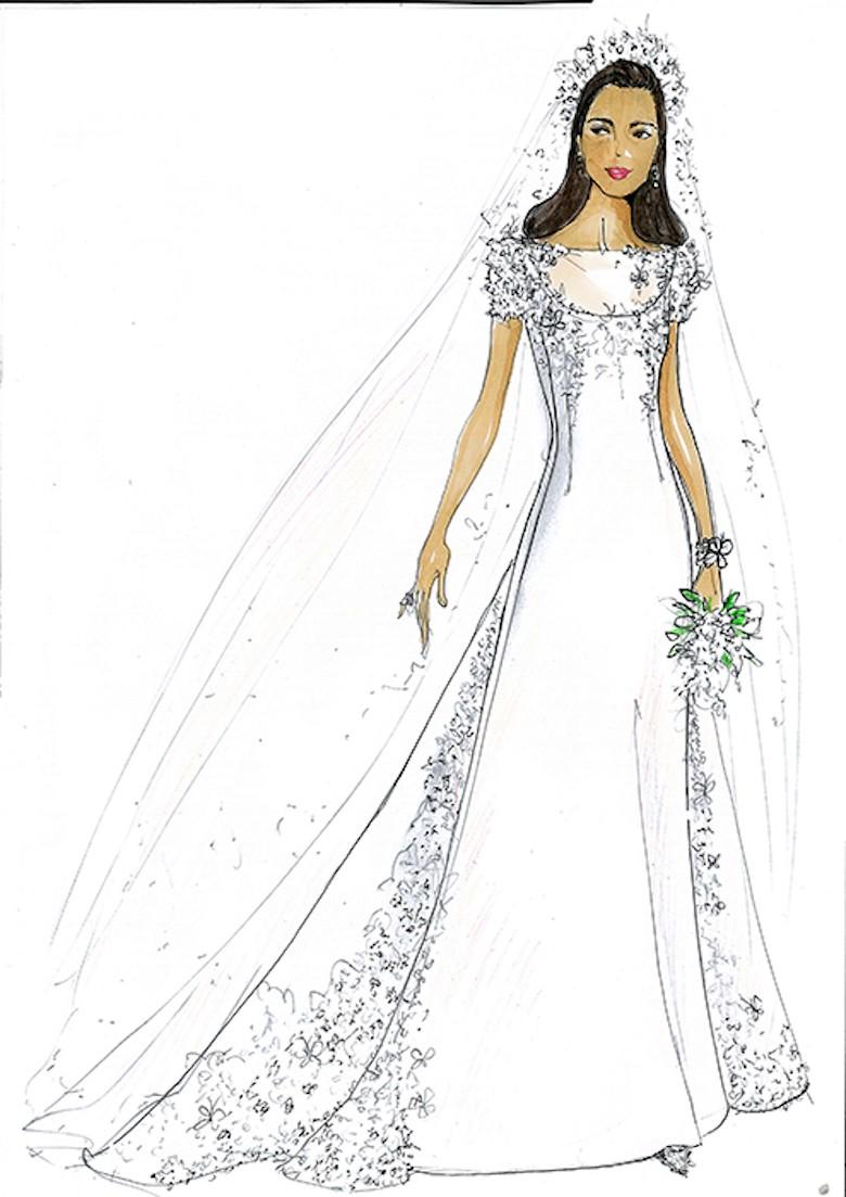 Suknia ślubna Dla Meghan Markle Projekt Uffe Frank Fot Hello