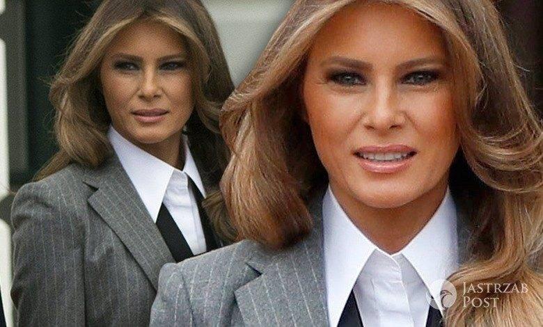 Melania Trump w garniturze Ralph Lauren