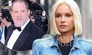 Magda Mielcarz i Harvey Weinstein
