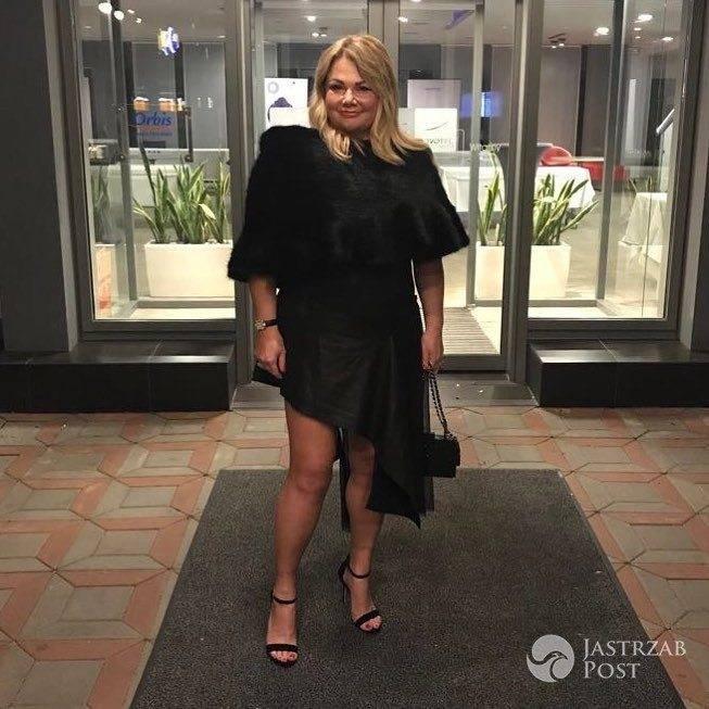 Kasia Niezgoda w czarnej sukience