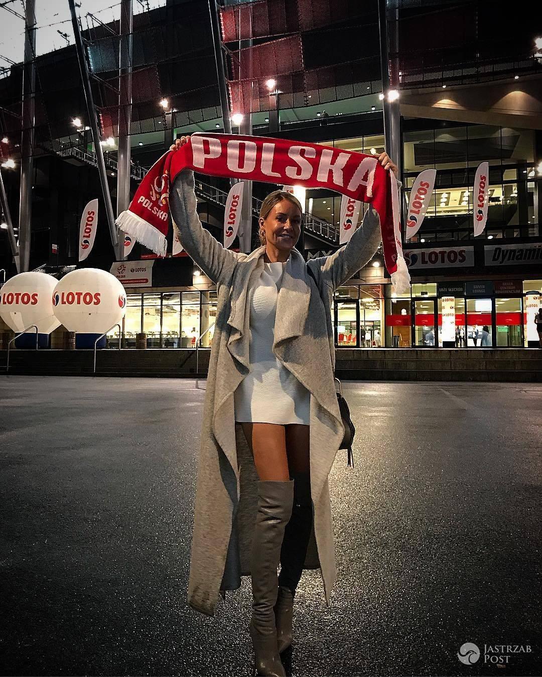 Małgorzata Rozenek w szarych kozakach