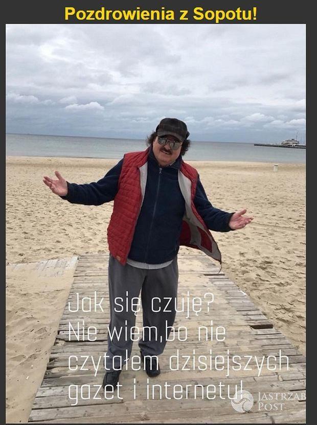 Krzysztof Krawczyk śmieje się z plotek o swoim zdrowiu