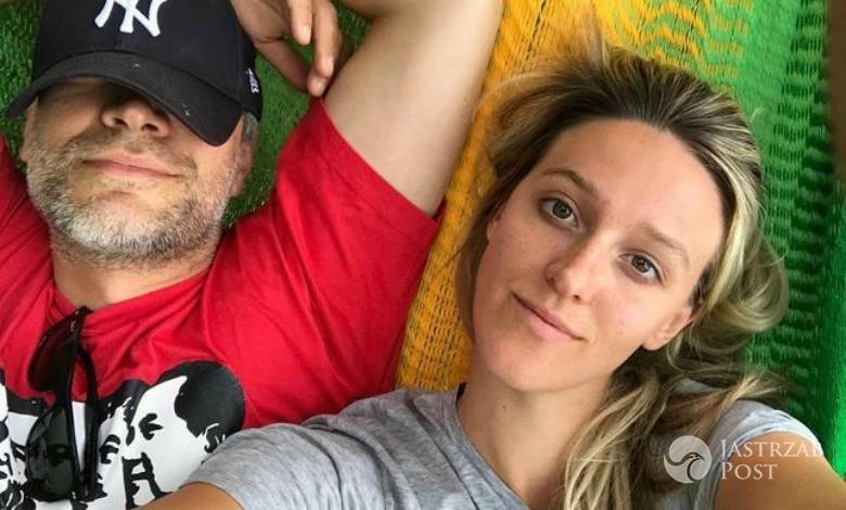 Michał Żebrowski z żoną
