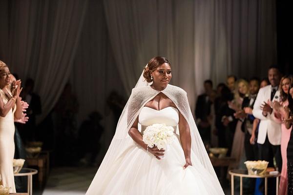 Serena Williams w sukni ślubnej