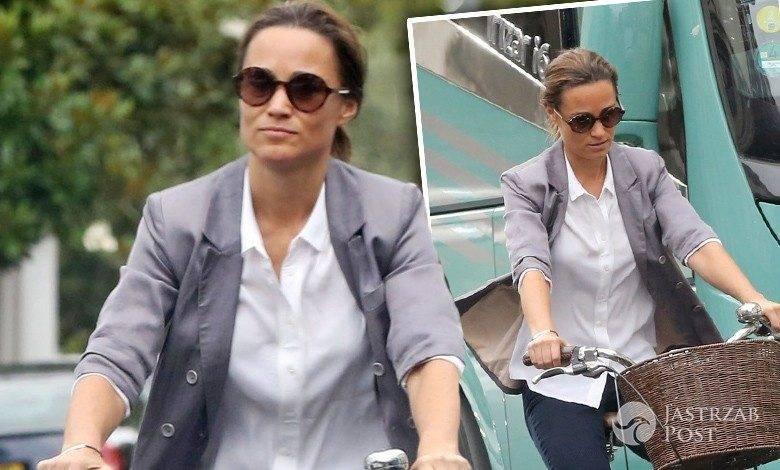 Pippa Middleton w ciąży jeździ na rowerze