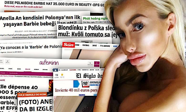 Anella, polska Barbie, zagraniczne media