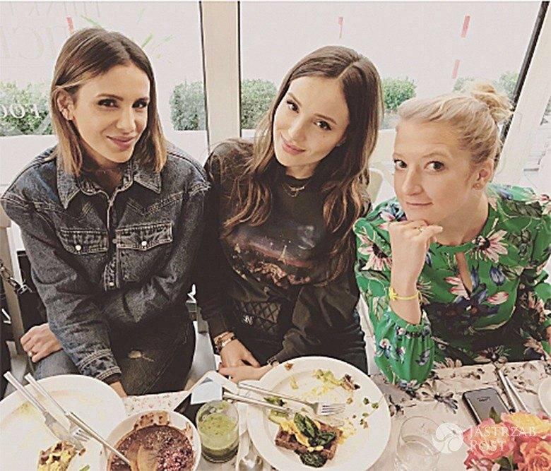 Sara Boruc, Marina Łuczenko, Lara Gessler - świętowanie grudniowej okładki ELLE