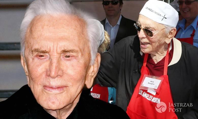 101 letni kirk douglas caluje swoja seksowna synowa jak goracy kochanek