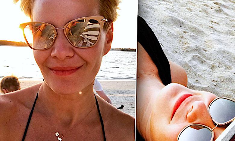 Małgorzata Kożuchowska w bikini na wakacjach