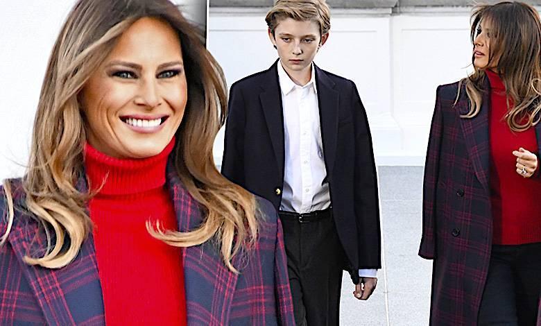 Melania Trump i syn Barron