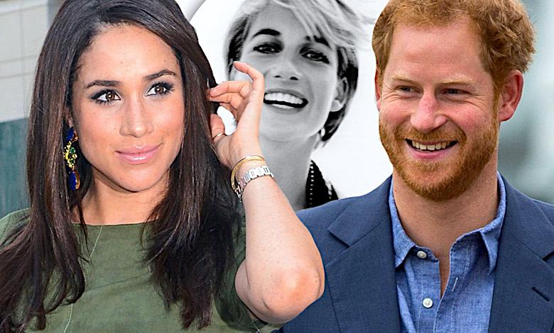 Meghan Markle, książę Harry i księżna Diana