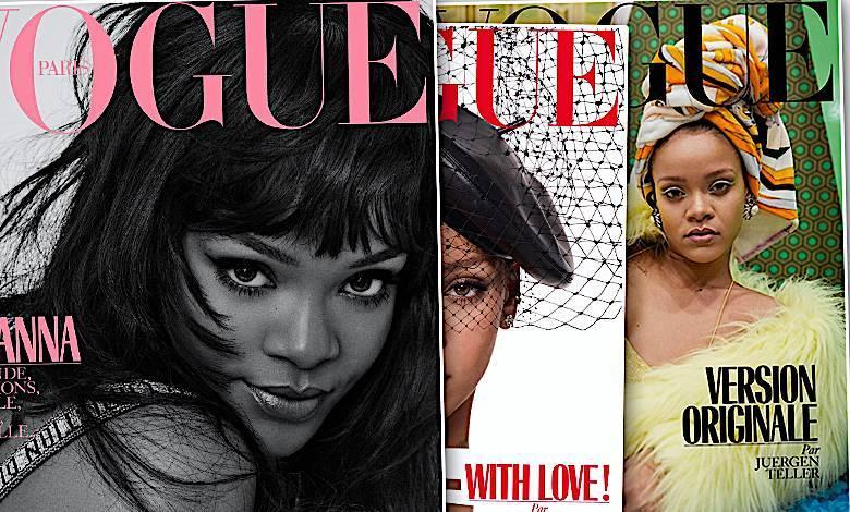Rihanna Vogue trzy okładki