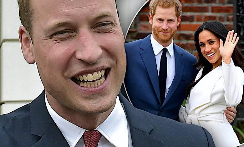 Książe William, książę Harry i Meghan Markle ślub