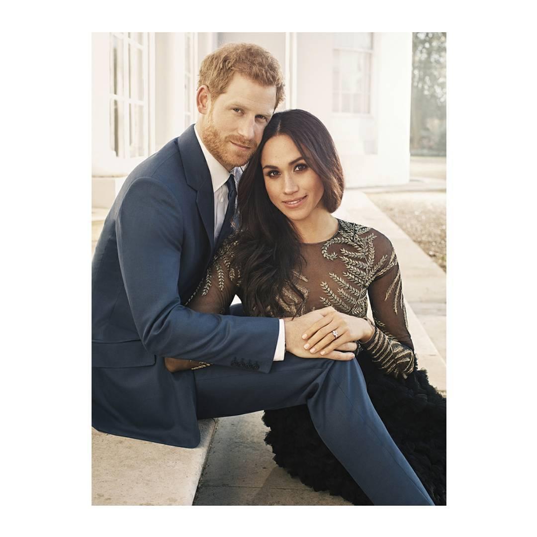 Meghan Markle i książę Harry zdjęcie zaręczynowe