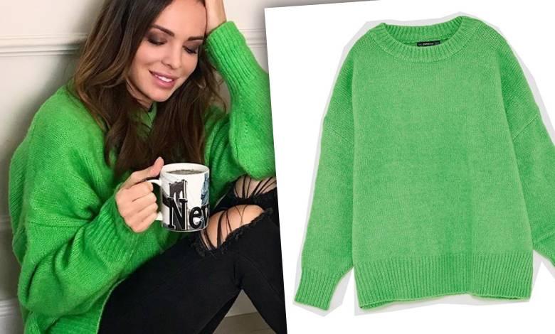 Zielony sweter Anny Wendzikowskiej - cena, marka, gdzie kupić