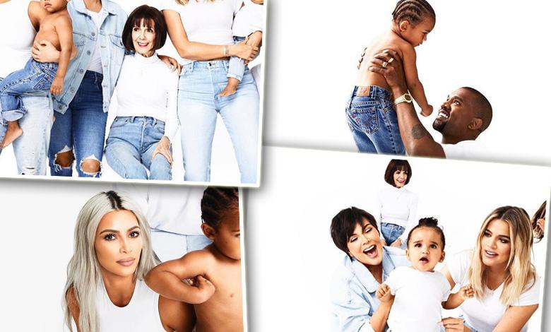 Świąteczna sesja rodziny Kardashian